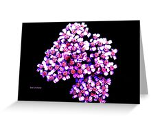 RIBBON FLOWERS Greeting Card