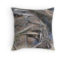 Webby Roots Throw Pillow