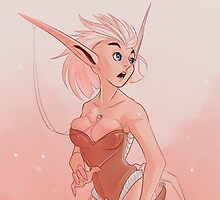 Silver elf by Mauw