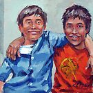 Twins, Both of them! Fraternal Boys by Norman Kelley