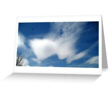 Lenticular clouds in Nice Greeting Card