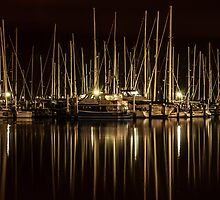 Geelong Marina at night by Adam1965