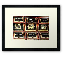 Spice rack 1 - Nostalgia Framed Print