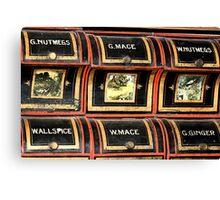 Spice rack 1 - Nostalgia Canvas Print