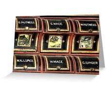 Spice rack 1 - Nostalgia Greeting Card