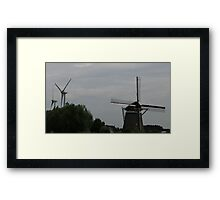 Juxtaposed Past Framed Print