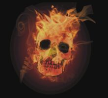 Burning Skull by DeadZeppelin