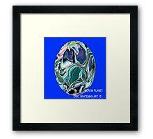 ( SCREW PLANET )  ERIC  WHITEMAN  ART  Framed Print