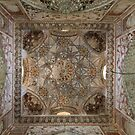 Pretty Painted Vault, Mosque in Madrassa, Silk Road by Jane McDougall