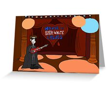 Vampire Jhonen Blues Musician Greeting Card