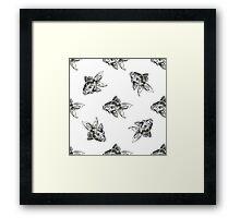 golden fish ink pattern Framed Print