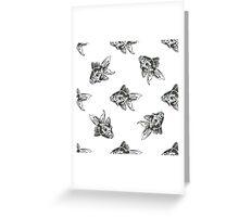golden fish ink pattern Greeting Card