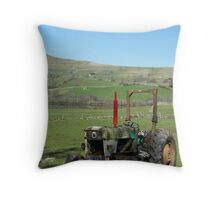Tractor in Yorkshire Dales Throw Pillow