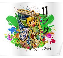 Epic Link Streetart Tshirts + More ' Legend of Zelda ' Jonny2may Poster