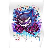 Epic Haunter Streetart Tshirts + More ' Pokemon ' Jonny2may Poster