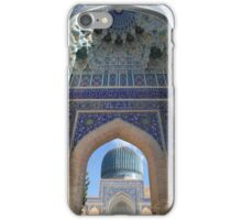 Blue Arch, Blue Dome, Samarkand iPhone Case/Skin