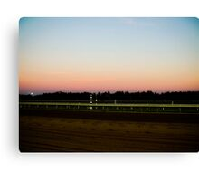 Sunset on the Track Canvas Print
