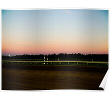 Sunset on the Track Poster