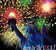 4th Of July Born in the USA! by Edmond  Hogge