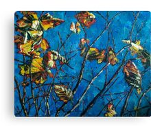 Golden Leaves III Canvas Print