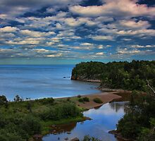 Beaver River Meets Lake Superior by by M LaCroix