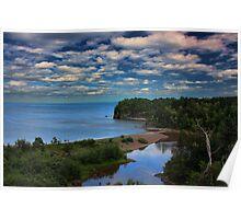 Beaver River Meets Lake Superior Poster