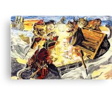 The Pirate Cats Find The Loot Canvas Print