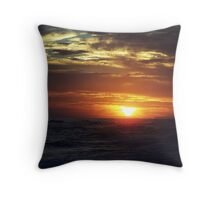 sunset/PCB Throw Pillow