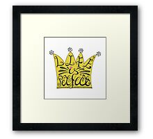 Life is perfect.Lettering on yellow crown Framed Print