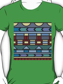 Bright colorful abstract  geometric pattern with different elements T-Shirt