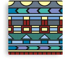 Bright colorful abstract  geometric pattern with different elements Canvas Print