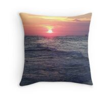 PCB/sunset Throw Pillow