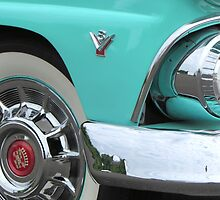 1955 Ford Fairlane Hotrod with Cadillac Hubcaps by RustedStudio