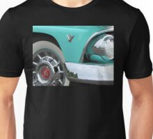 1955 Ford Fairlane Hotrod with Cadillac Hubcaps Unisex T-Shirt