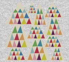 Colorful Geometric Triangle One Piece - Long Sleeve