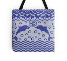Dolphins knitted pattern Tote Bag
