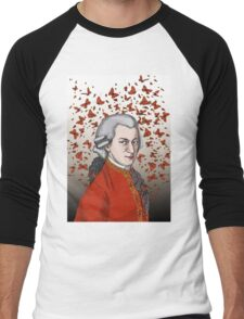 Wolfgang Amadeus Mozart Men's Baseball ¾ T-Shirt