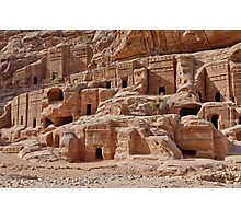 facade street in Nabataean ancient town Petra Photographic Print