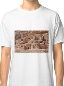 facade street in Nabataean ancient town Petra Classic T-Shirt