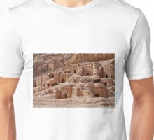facade street in Nabataean ancient town Petra Unisex T-Shirt