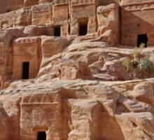 facade street in Nabataean ancient town Petra Sticker