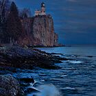 Moonlight Over Lighthouse by by Marvil LaCroix