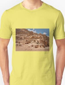 facade street in Nabataean ancient town Petra T-Shirt
