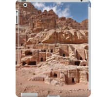 facade street in Nabataean ancient town Petra iPad Case/Skin