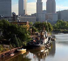 Cleveland Ohio Skyline by Robert Daveant