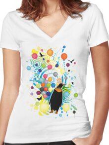 Sky_High Women's Fitted V-Neck T-Shirt