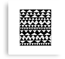 Black Triangles Canvas Print