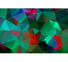 Green Polygon Art Photographic Print