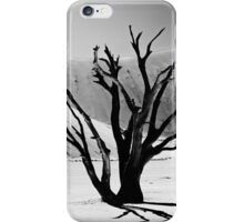 Dead Vlei with dead trees in desert landscape of Namib BW 01 iPhone Case/Skin