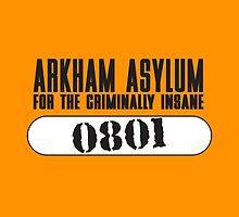 Asylum Inmate #0801 aka Joker's uniform by CheekySherwin